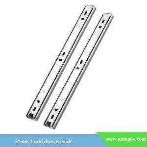 27mm one way 2 fold drawer runner slide