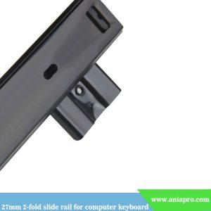 27mm-2-fold-slide-rail-for-computer-keyboard-black-and-white