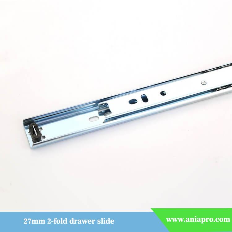27mm ball bearing drawer slide 2 fold