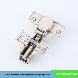 35mm-American-short-arm-soft-closing-hinge-with-2-holes-plate