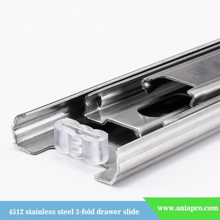 45mm-stainless-steel-3-fold-ball-bearing-drawer-runner