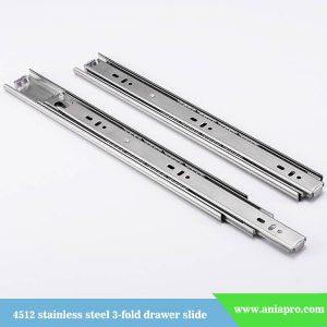 45mm-stainless-steel-3-fold-ball-bearing-drawer-slide