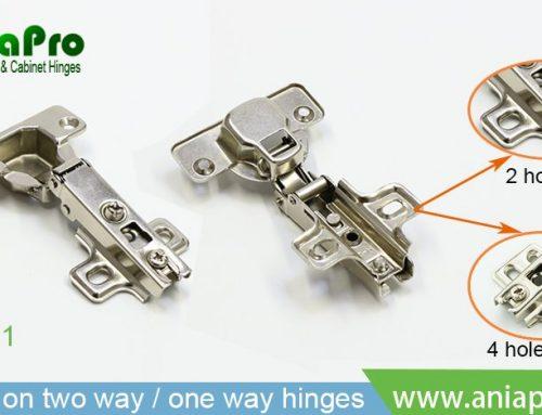 Slide on normal hinges / two way cabinet hinges / one way concealed hinges
