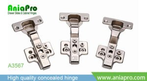 3D hinge soft close with plate