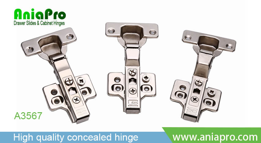 A3567 clip on soft close 3D plate hinge - Drawer Slide and