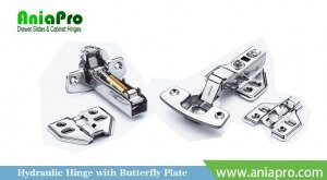 stainless steel hinge with butterfly plate