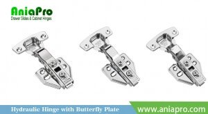 soft closing hinge with butterfly plate