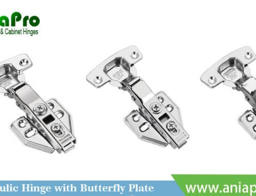 Hydraulic Stainless Steel soft closing hinge with butterfly plate