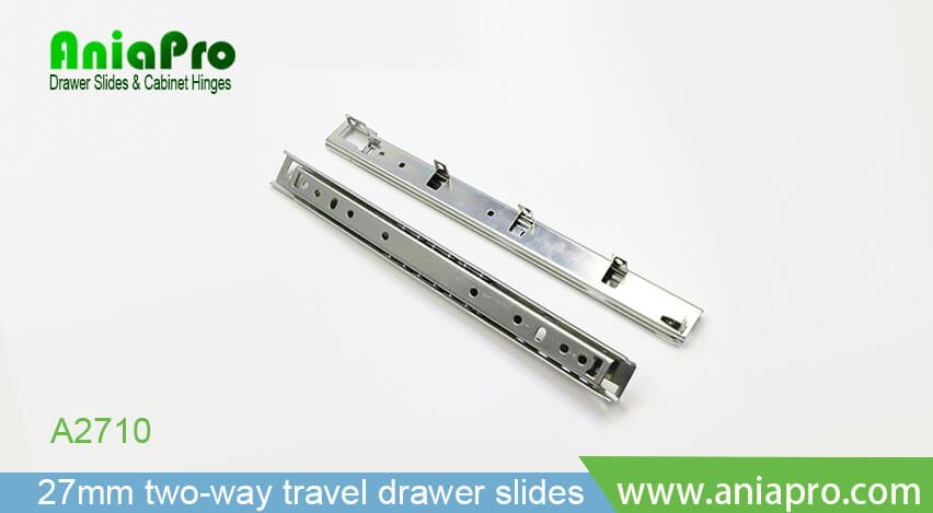 27mm Bottom Mount Two Way Travel Ball Bearing Drawer Slide Drawer
